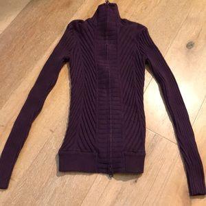 Athleta zipper down the frontPurple sweater
